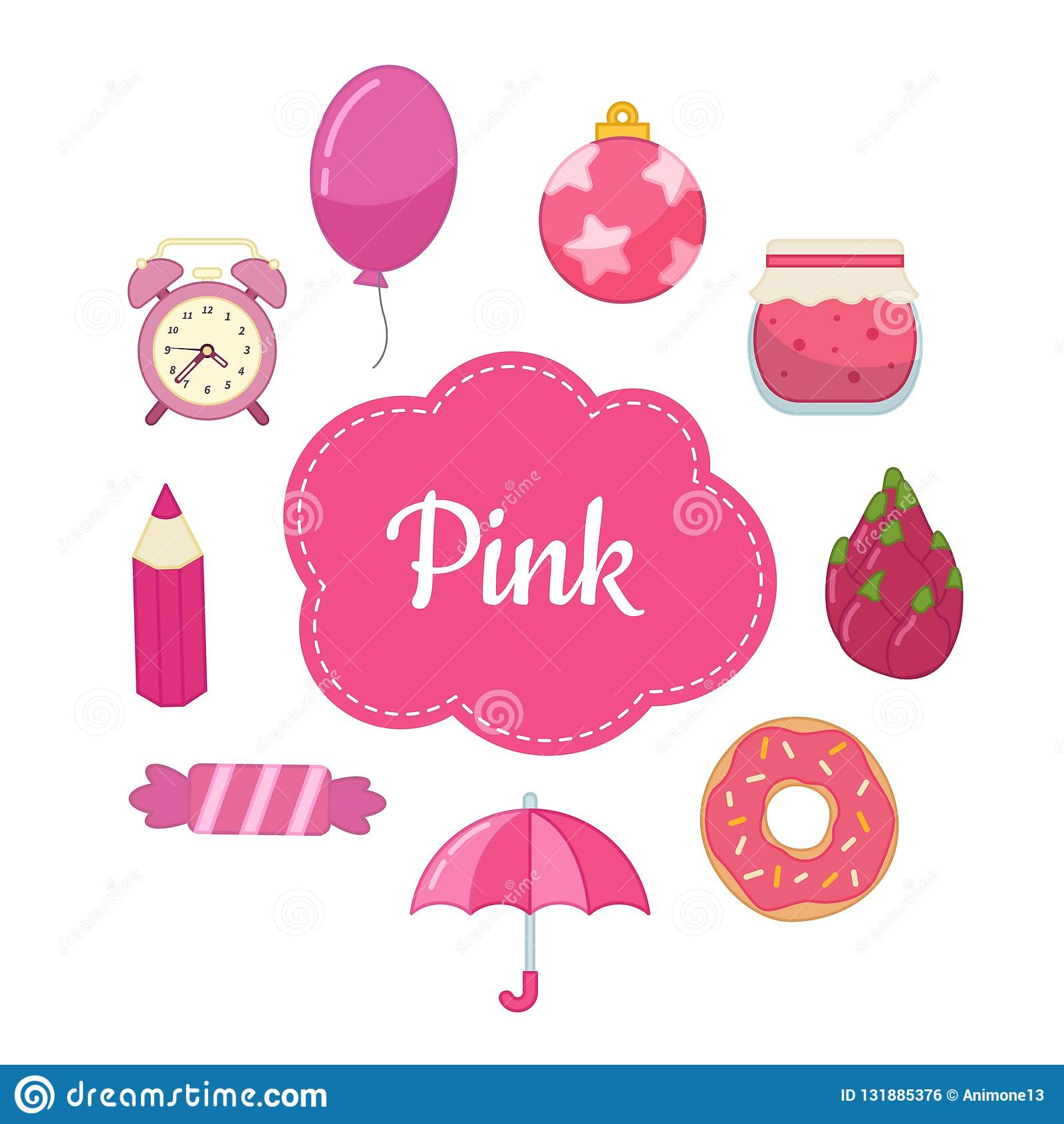 Pink Book Vector Icon Cartoon Vector