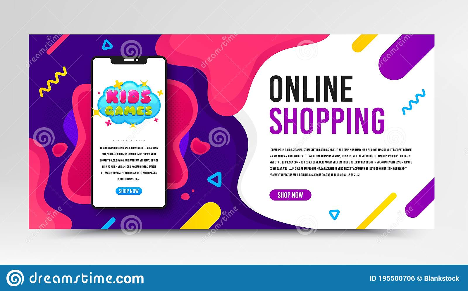 Free smart photo frame mockup psd. Kids Games Icon Fun Playing Zone Banner Vector Stock Vector Illustration Of Mockup Geometric 195500706