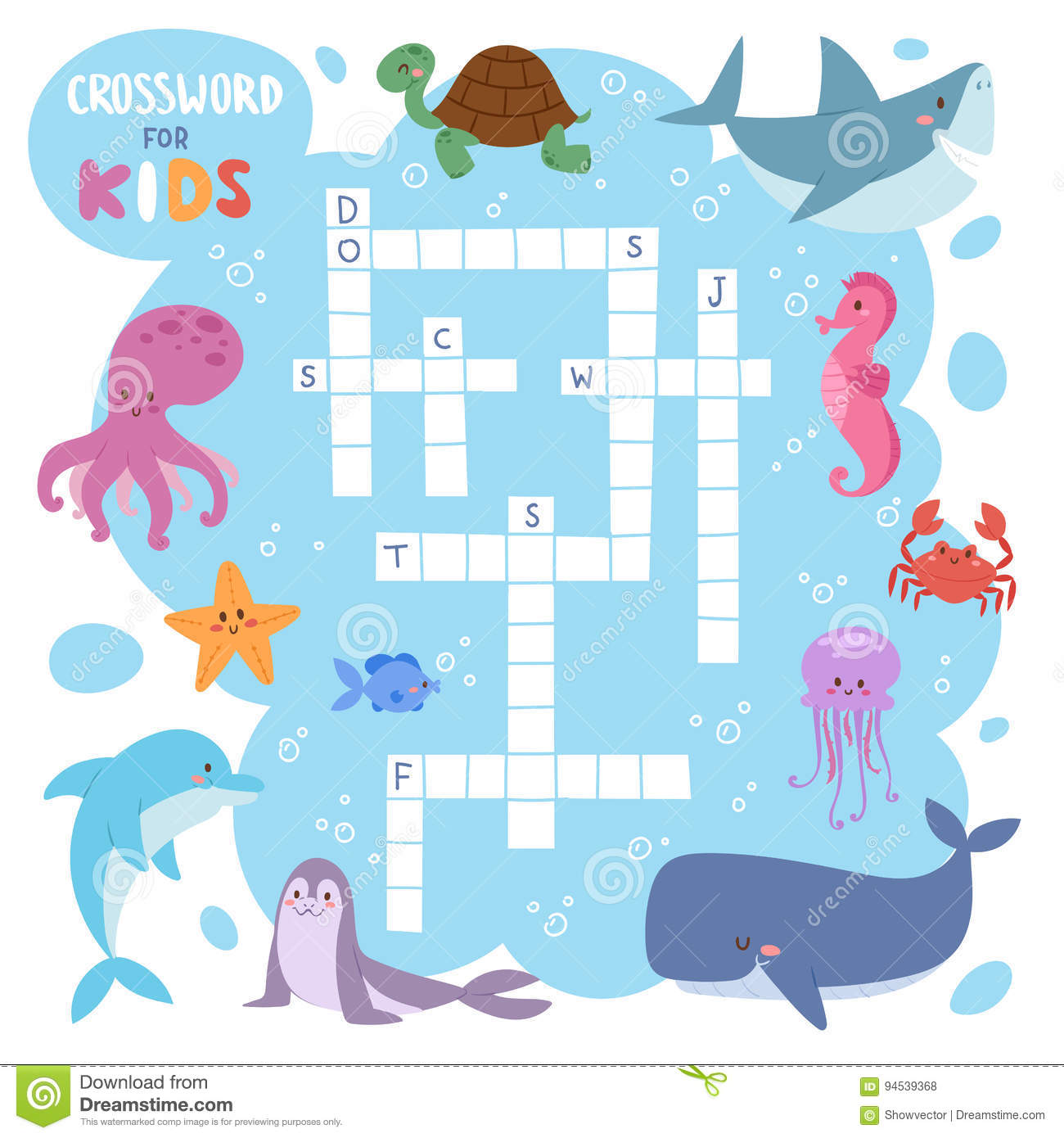 Kids Magazine Book Puzzle Game Of Sea Underwater Ocean
