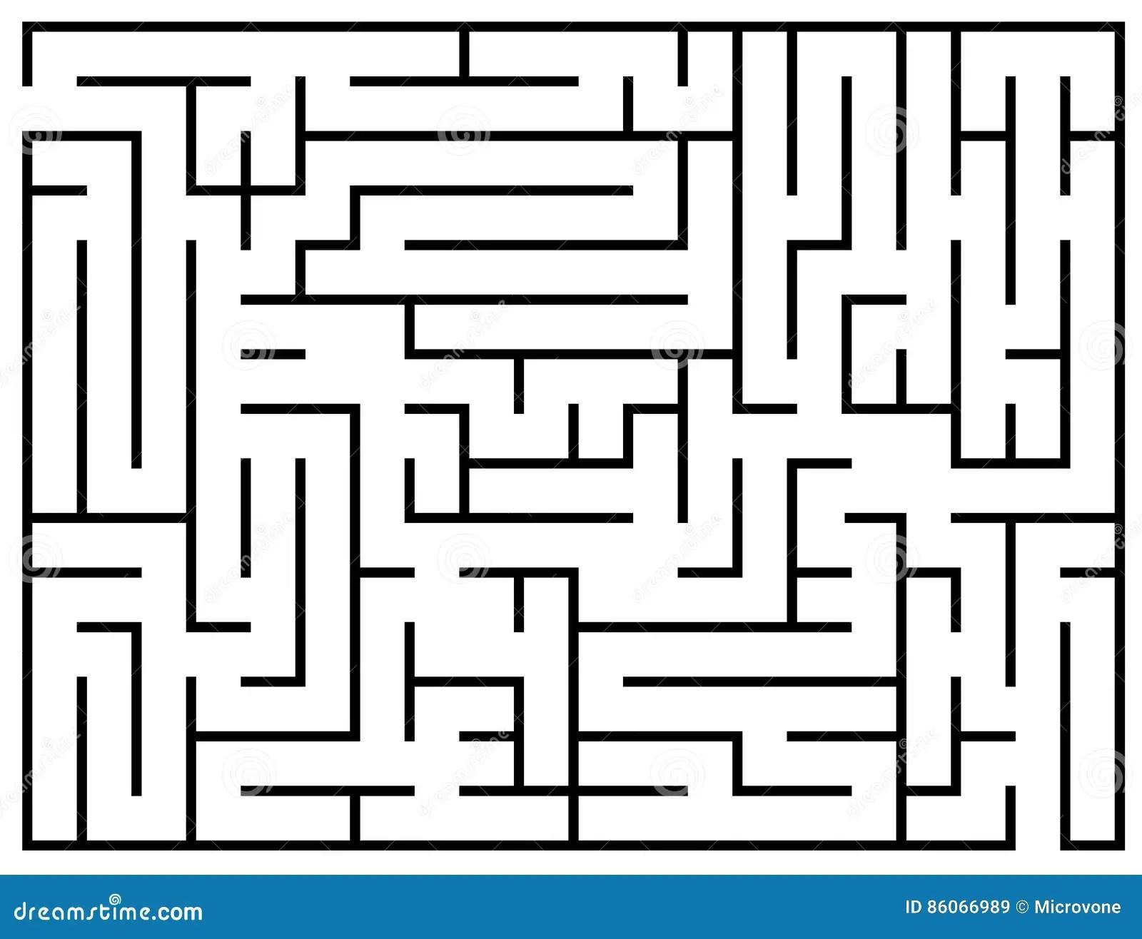 Kids Riddle Maze Puzzle Labyrinth Vector Illustration