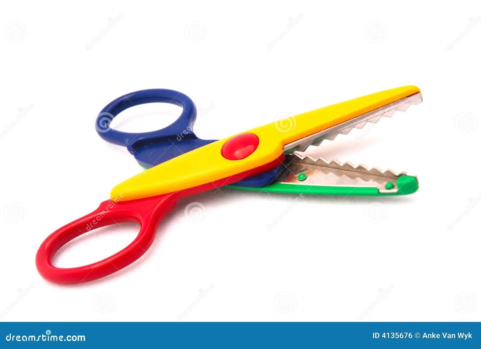 Kids Scissors Stock Photo Image Of Colourful Sharp