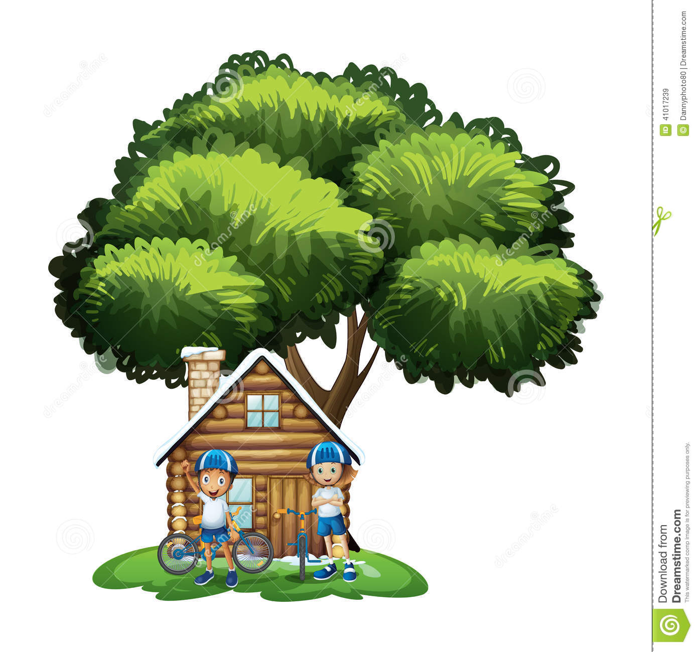 Cartoon Background House Outside
