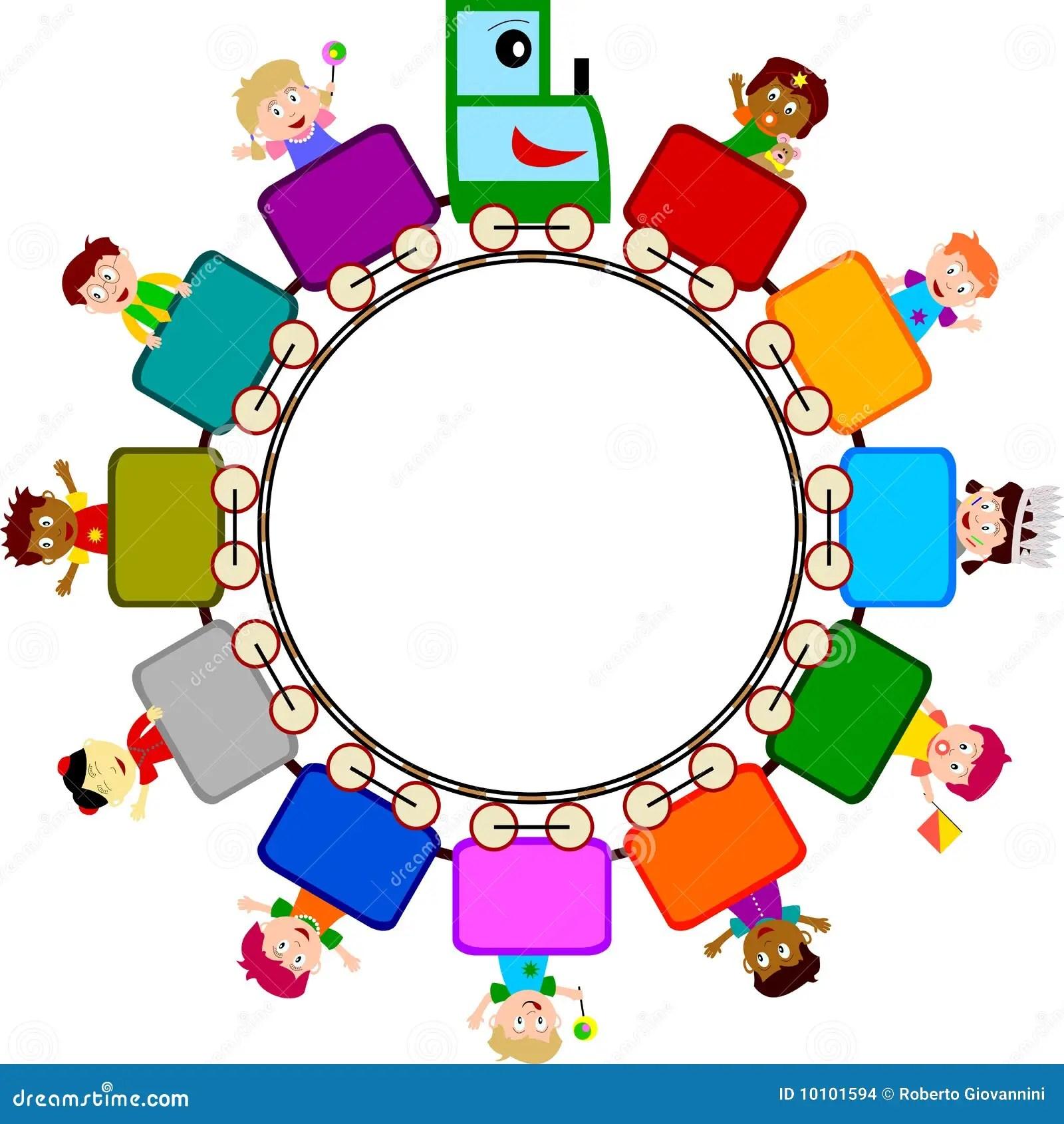 Kids On Train Logo Stock Images