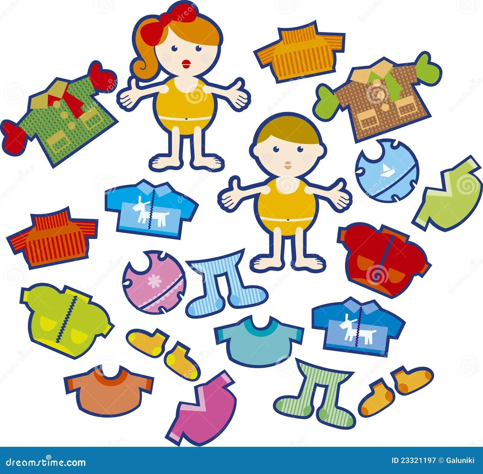 Kids Wearing Stock Vector Illustration Of Gloves Coat