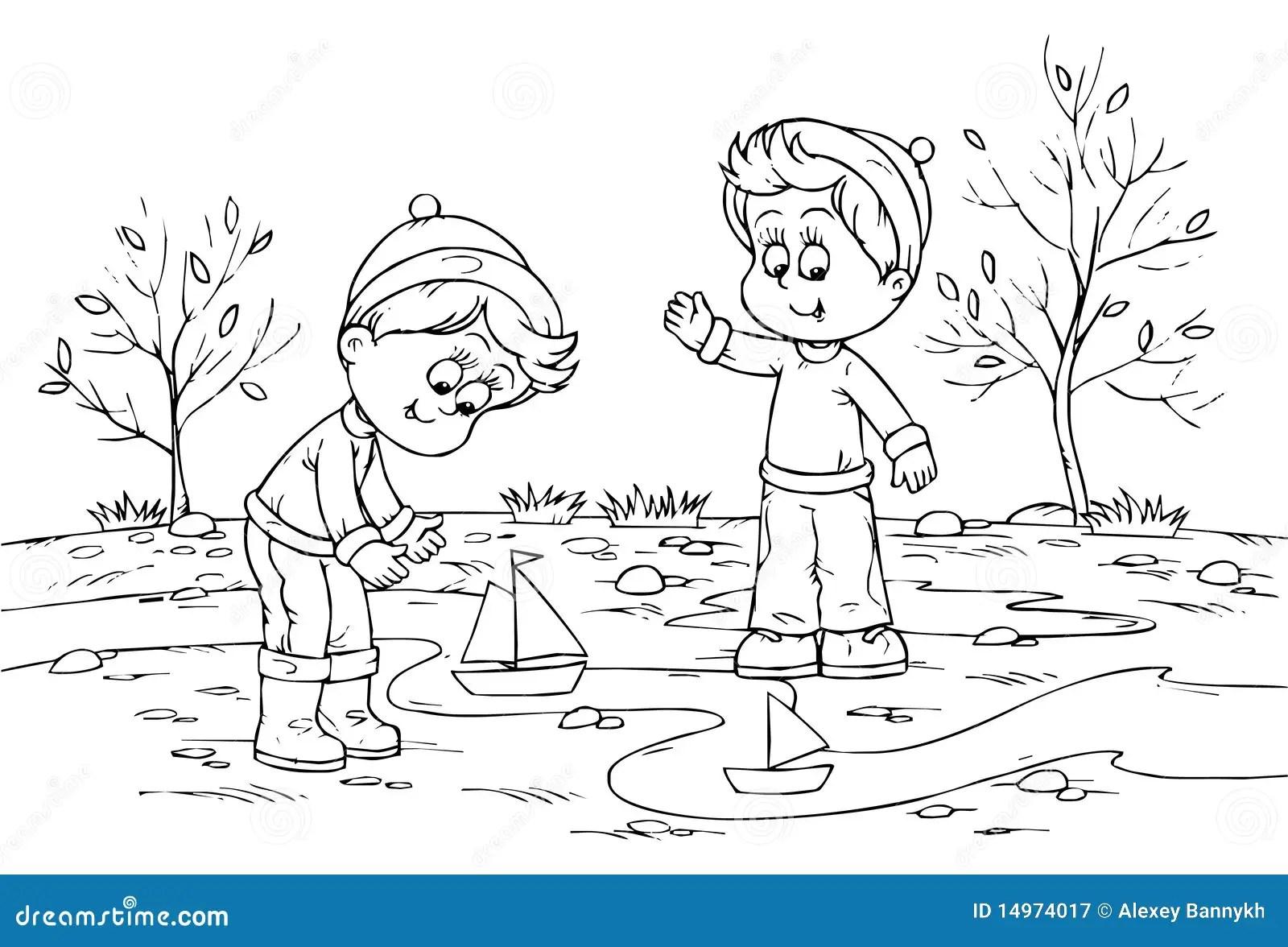 Kinder Mit Spielzeuglieferungen Spielen Stock