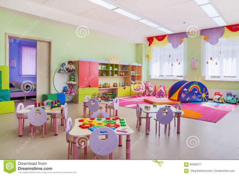 Kindergarten  game room  stock image  Image of kindergarten   66596377 Download Kindergarten  game room  stock image  Image of kindergarten    66596377
