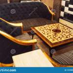 King Style Sofa Set With Center Table Stock Photo Image Of King Home 174798520