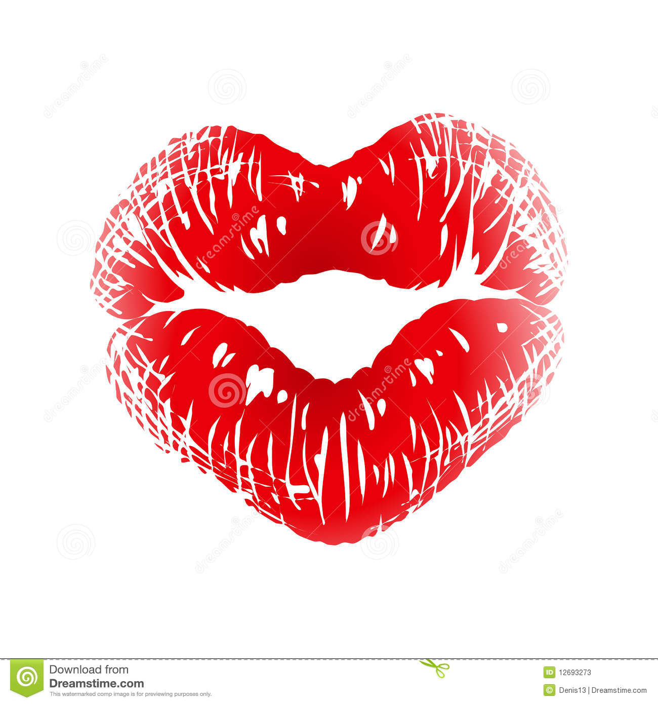 Kiss Print In The Shape Of Heart Stock Photos Image