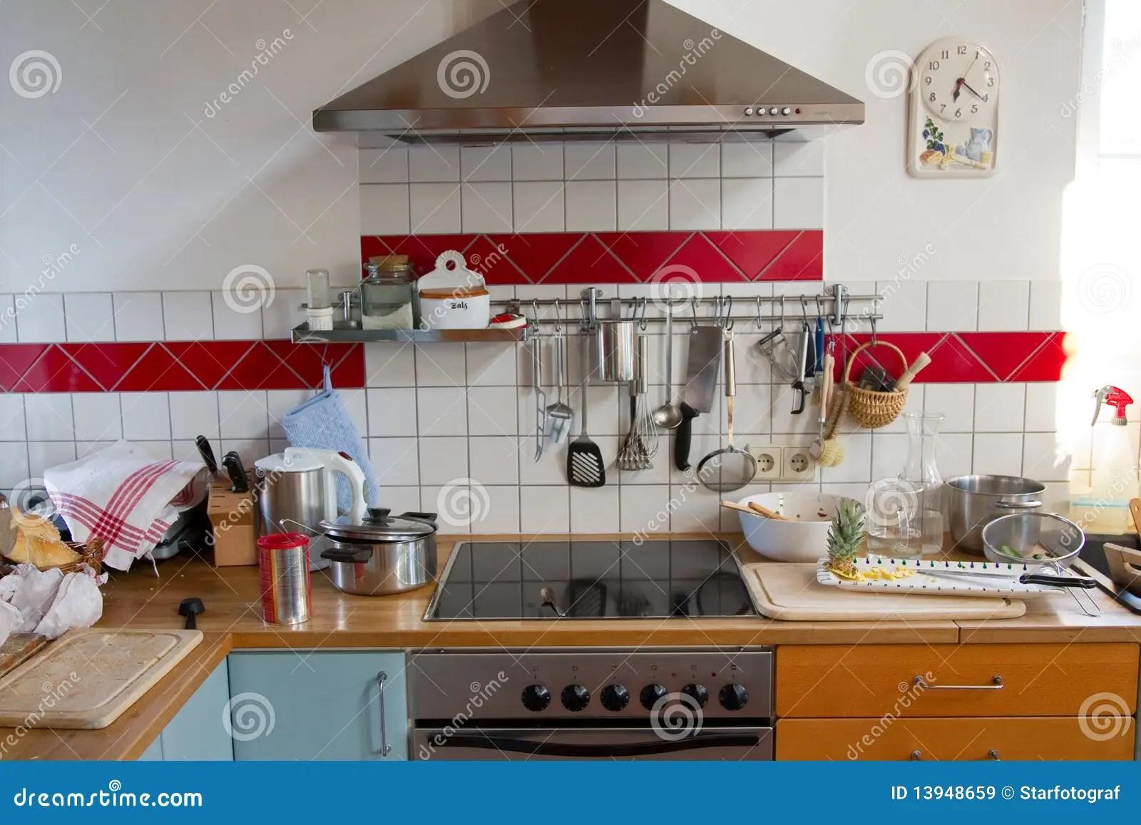 Kitchen Chaos Stock Image Image Of Dishing Crockery