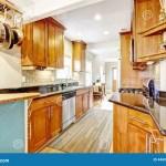 Kitchen Room With Black Granite Tops And Tile Back Splash Trim Stock Photo Image Of Rack Renovated 44603942