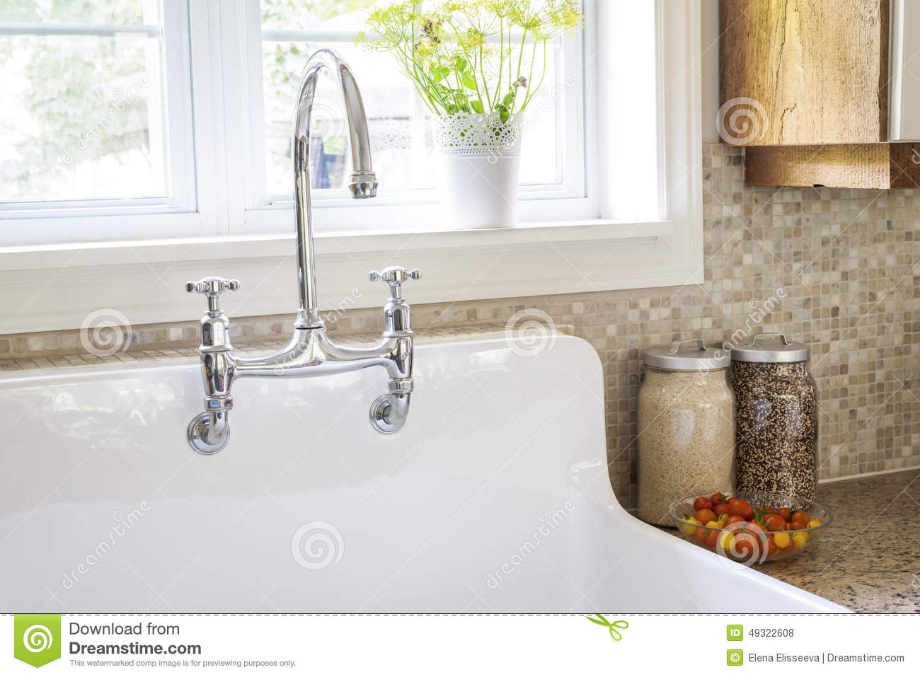 kitchen sink and faucet stock photo image of oversized 49322608