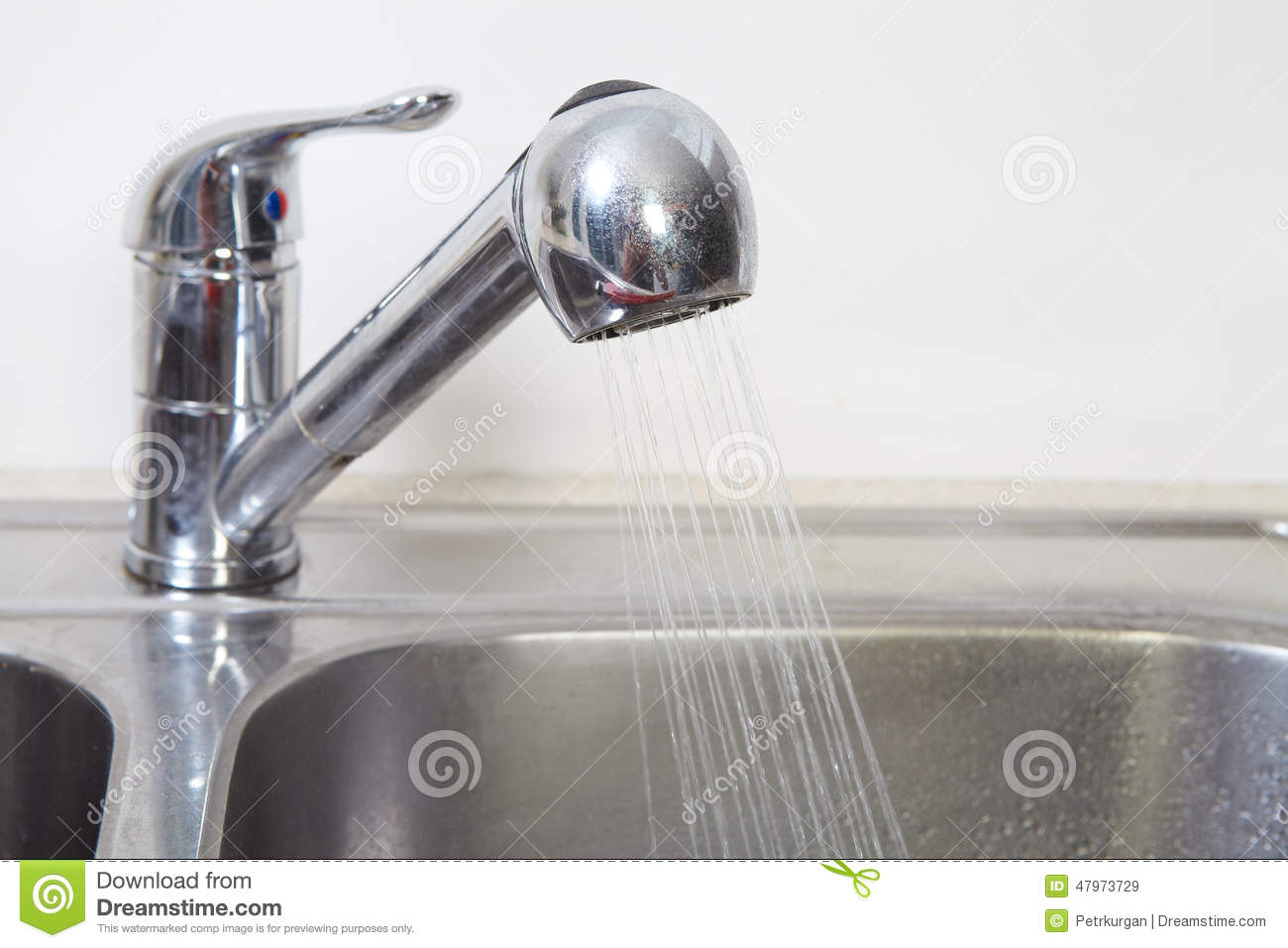 Clogged Kitchen Sink Stock Photo