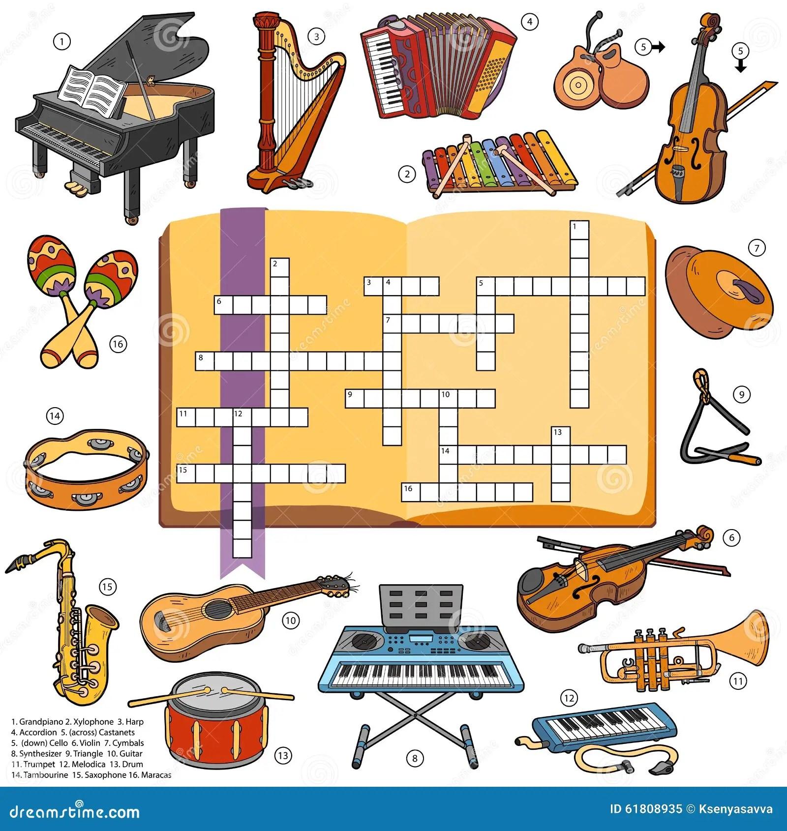 Kleurenkruiswoordraadsel Spel Voor Kinderen Over