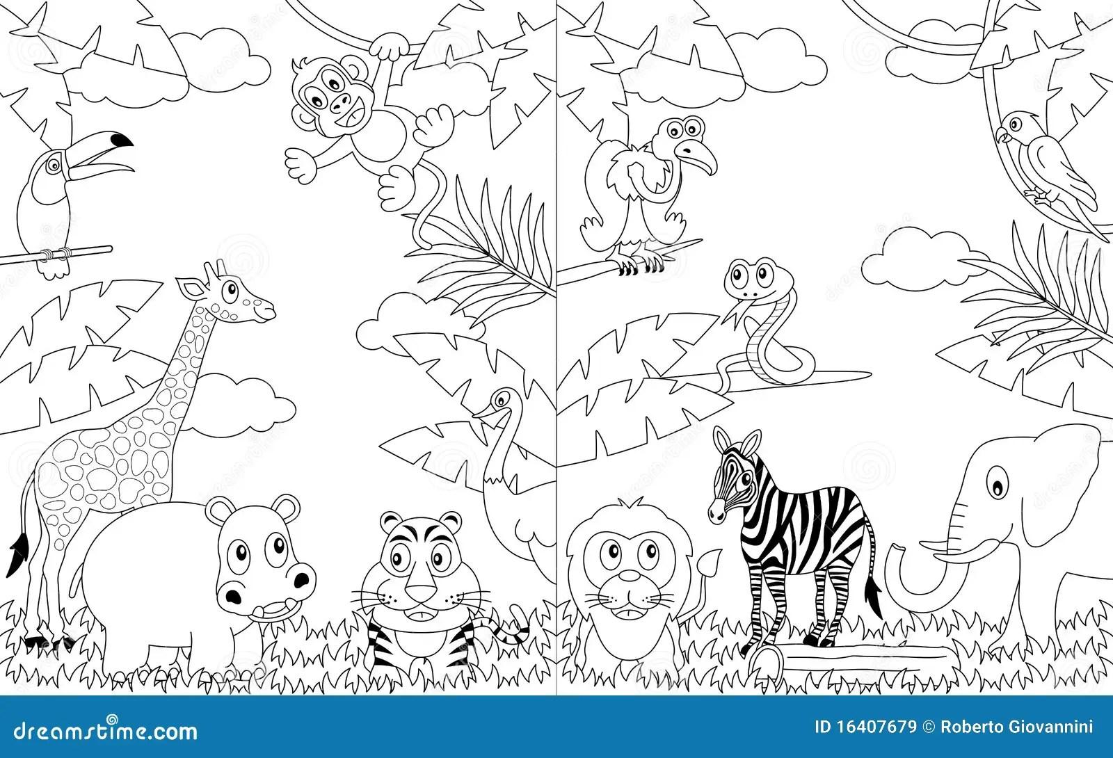 Kolorystyka 2 Afryka Skiego Krajobrazu Ilustracja Wektor