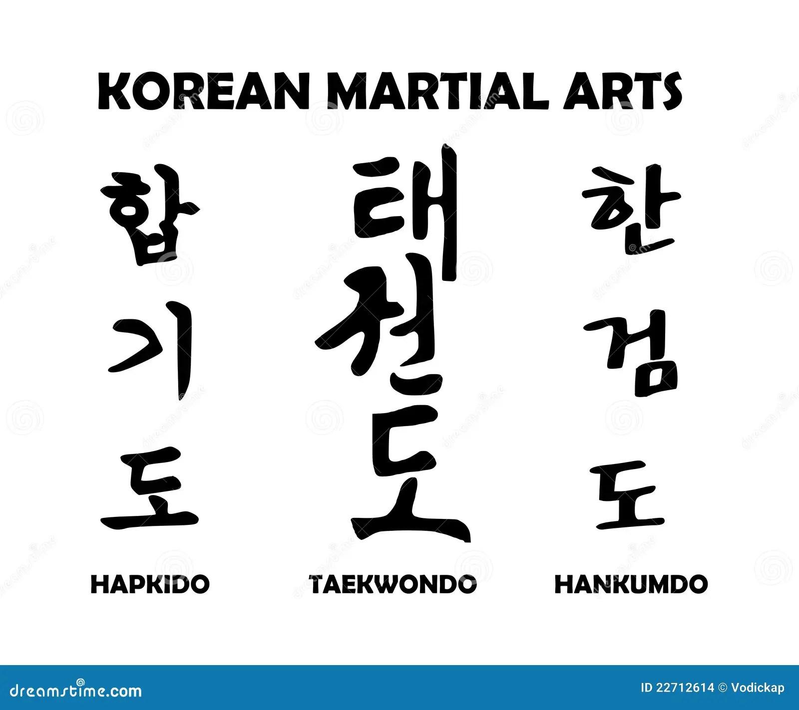 Koreaanse Vechtsporten Vector Illustratie Afbeelding