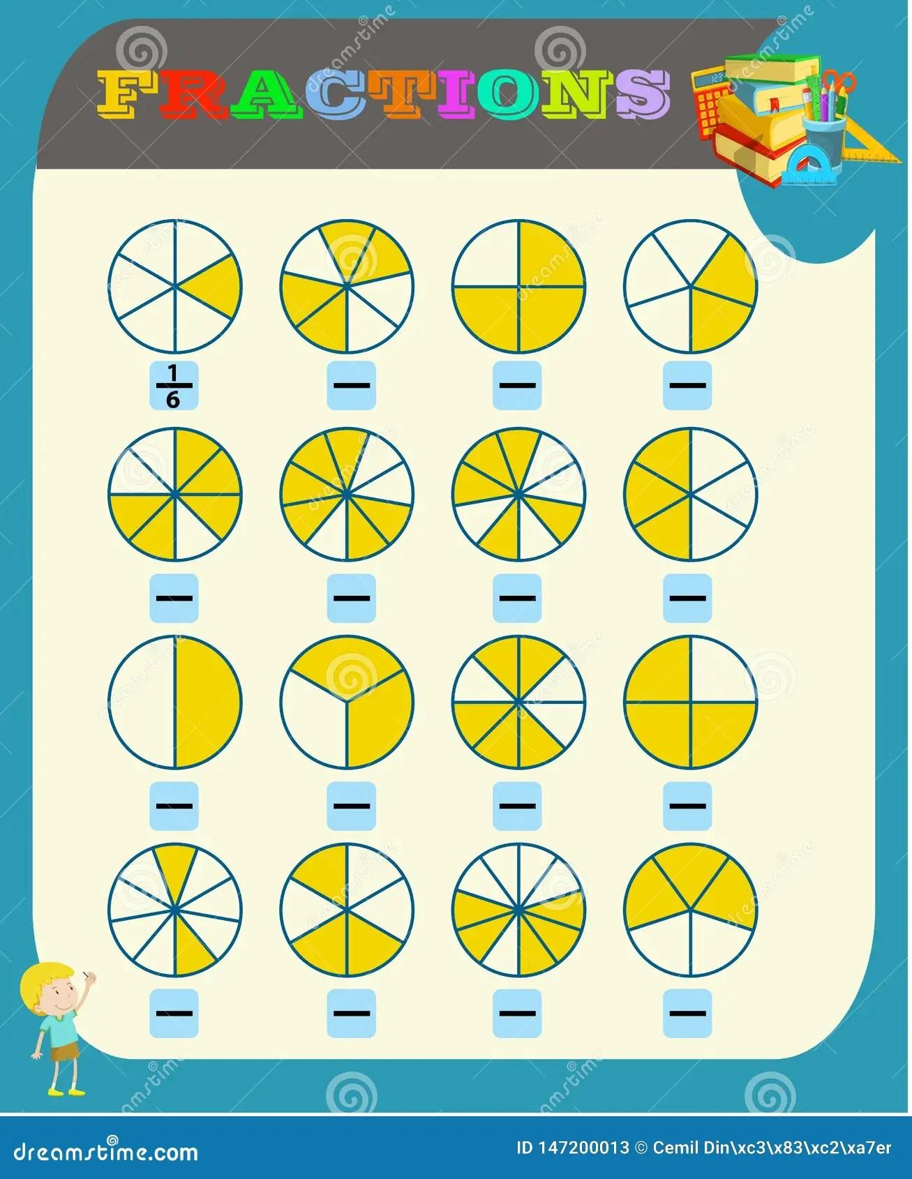 Kreisen Sie Den Korrekten Bruch Mathematik