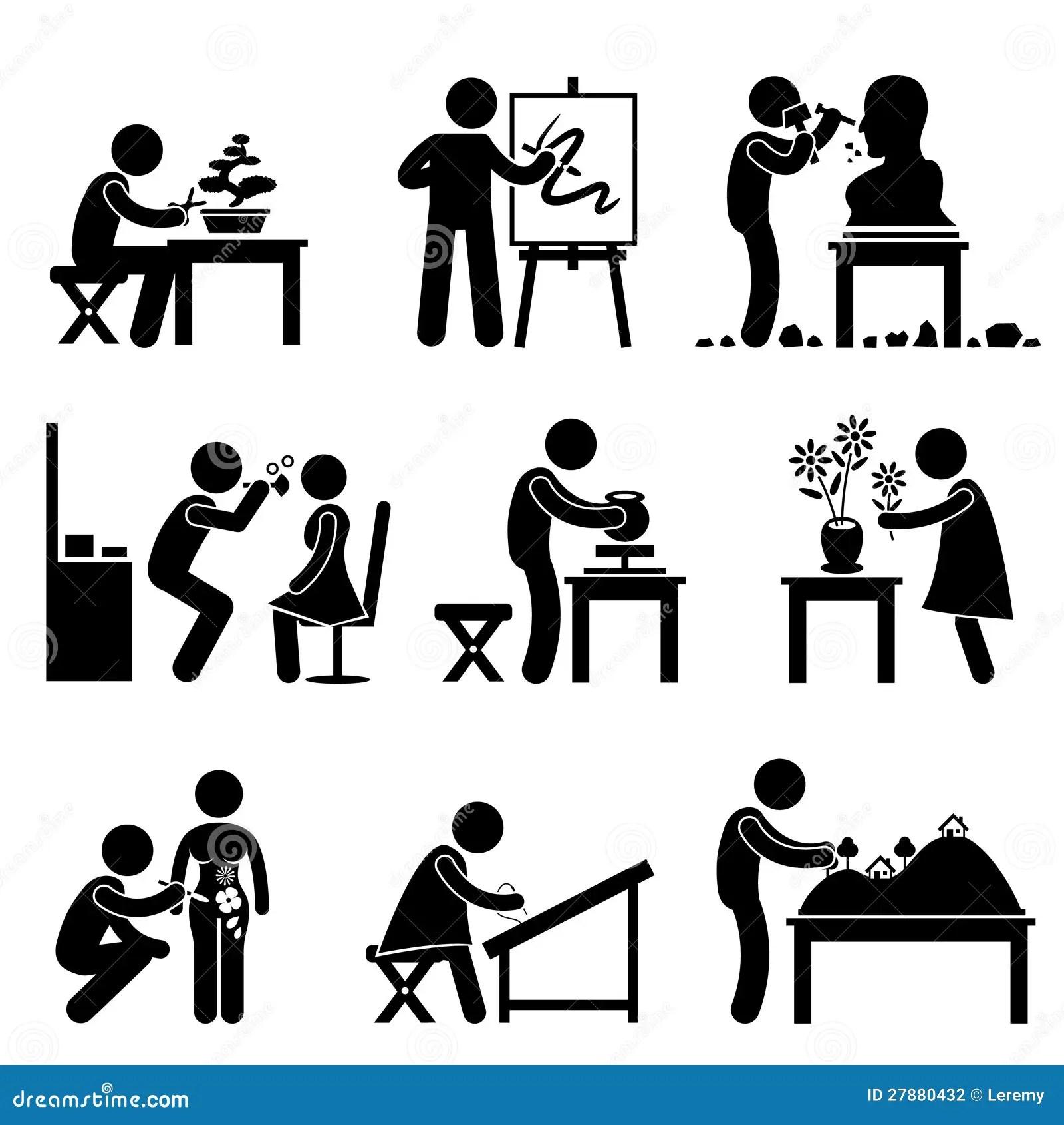 Kunst Kunstlerisches Arbeits Job Besetzungs Piktogramm