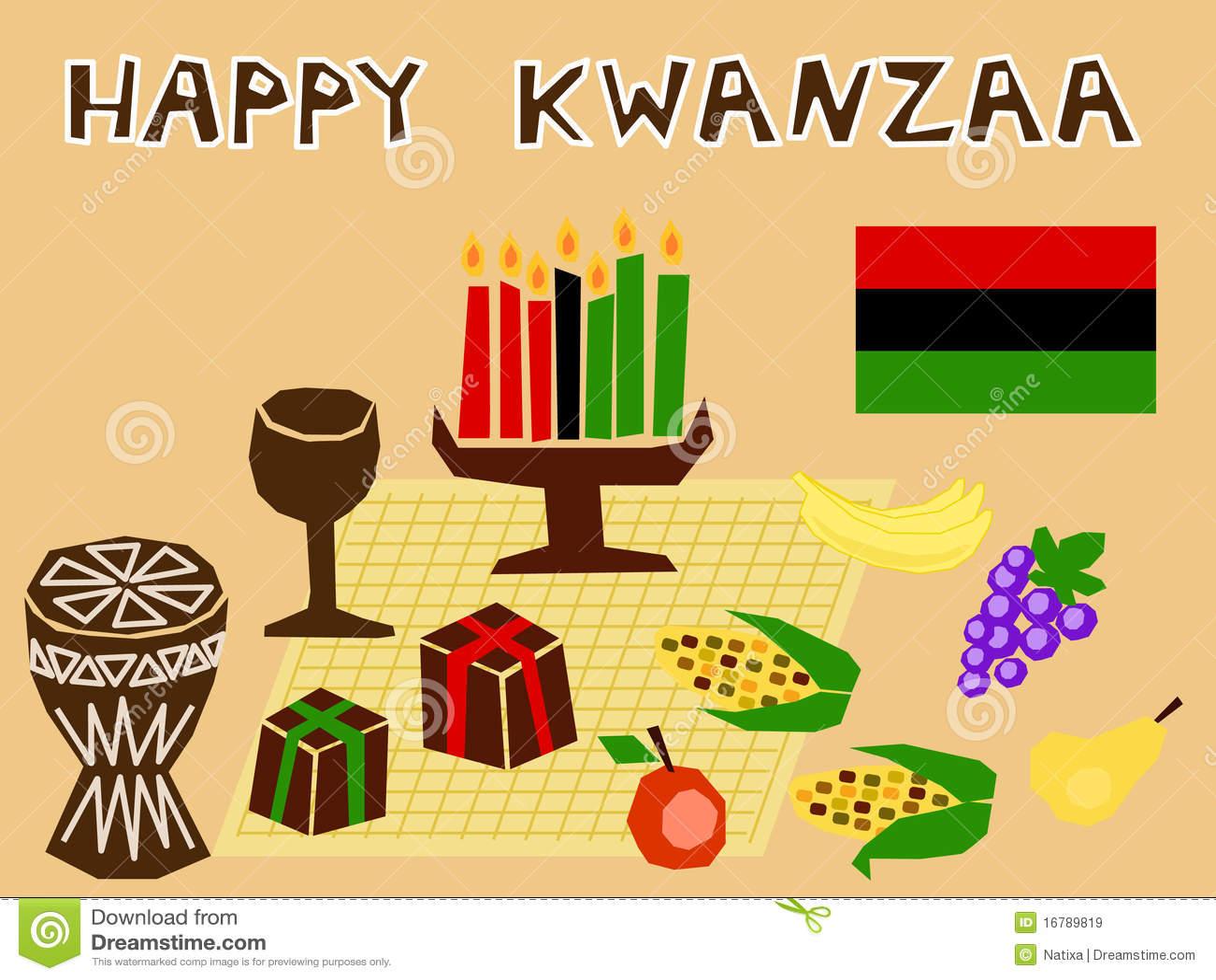 Seven Symbols Of Kwanzaa Clip Art Cliparts