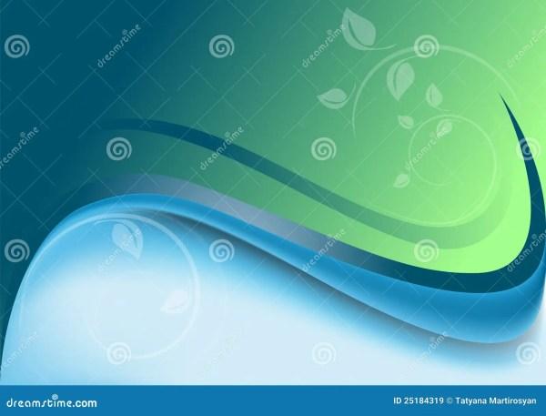 L'abstrait Ondule Le Fond Vert-bleu Avec Le De Blanc ...