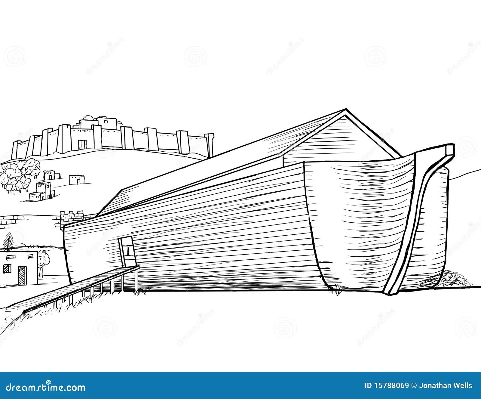 L Arche De Noe Terminee Illustration Stock Illustration