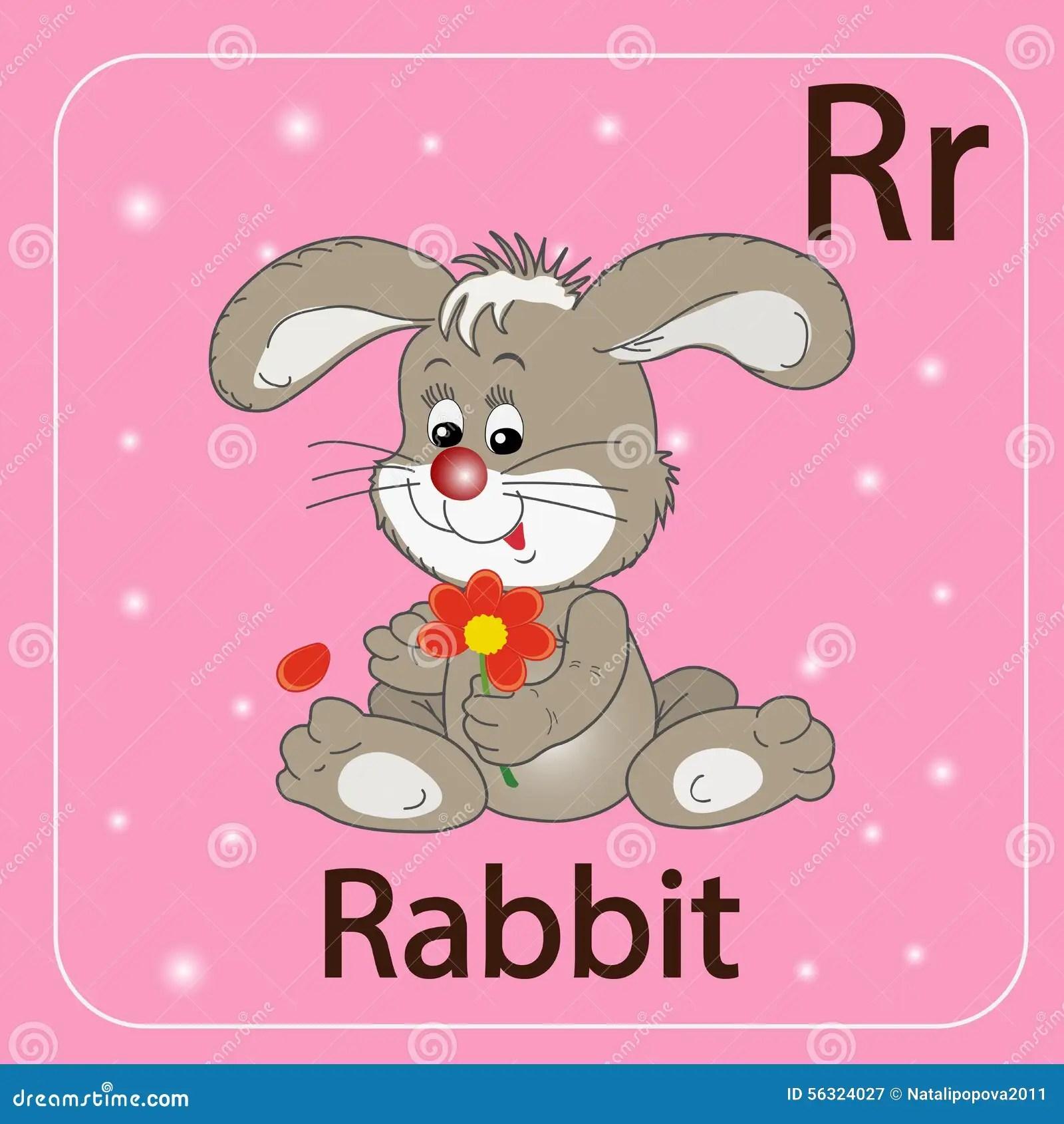 La Letra Inglesa R Y Un Conejo Ilustracion Del Vector