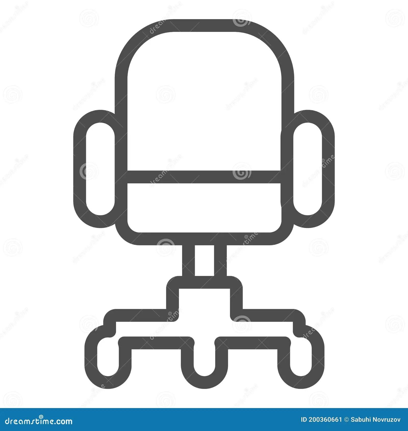 la ligne icone concept de meubles president du fauteuil de bureau de pivotement du panneau sur fond blanc icone interieure de illustration de vecteur illustration du confortable gestionnaire 200360661
