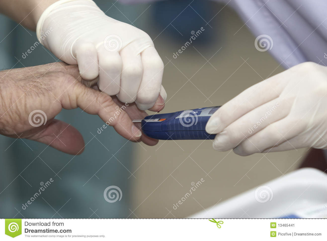Lab Blood Test Health Care Medicine Diabetes Stock Image
