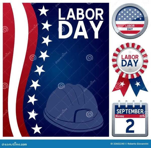 Labor Day Set stock vector. Illustration of illustration ...