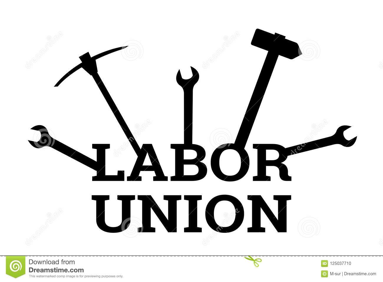 Labor Union Stock Vector Illustration Of Manual Together
