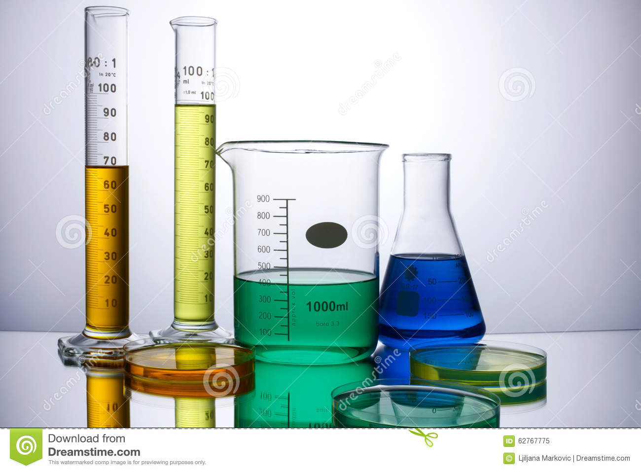 Laboratory Equipment Beakers Test Tubes Stock Photo