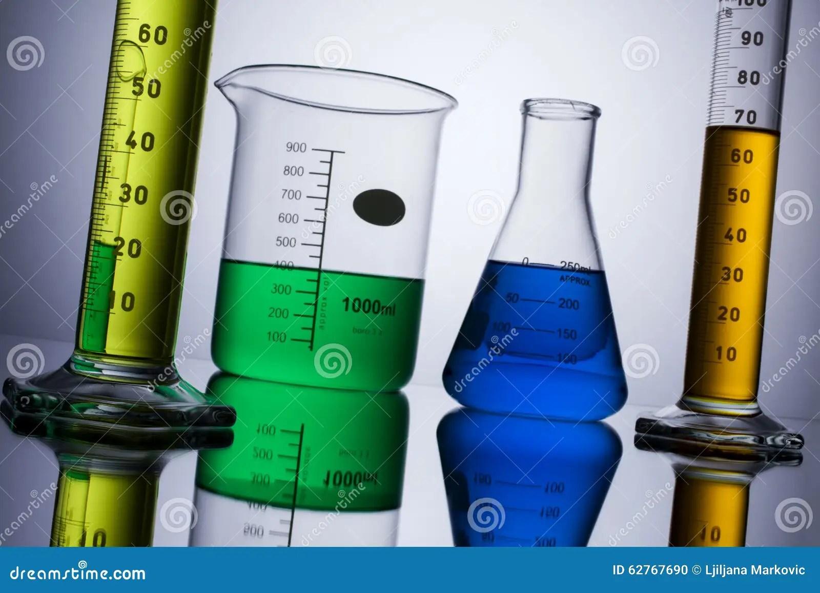Laboratory Equipment Beakers Test Tubes Stock Photo