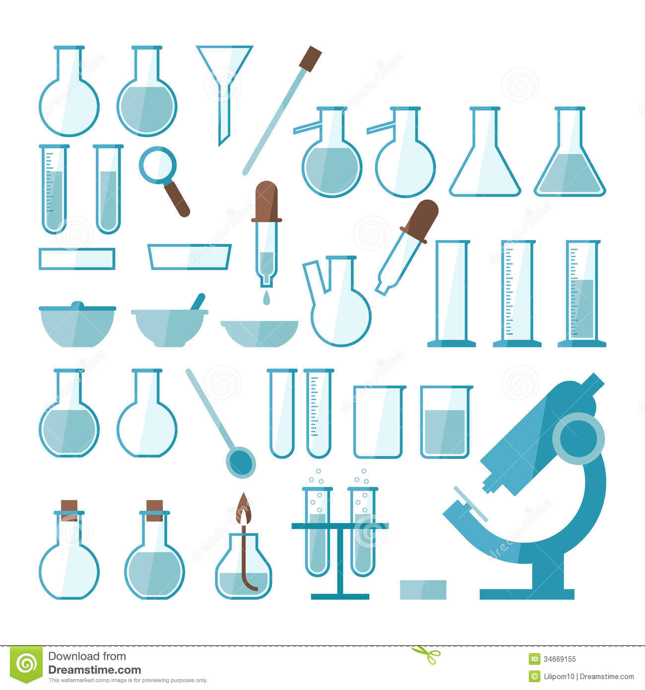 Laboratory Equipment Set Royalty Free Stock Photo