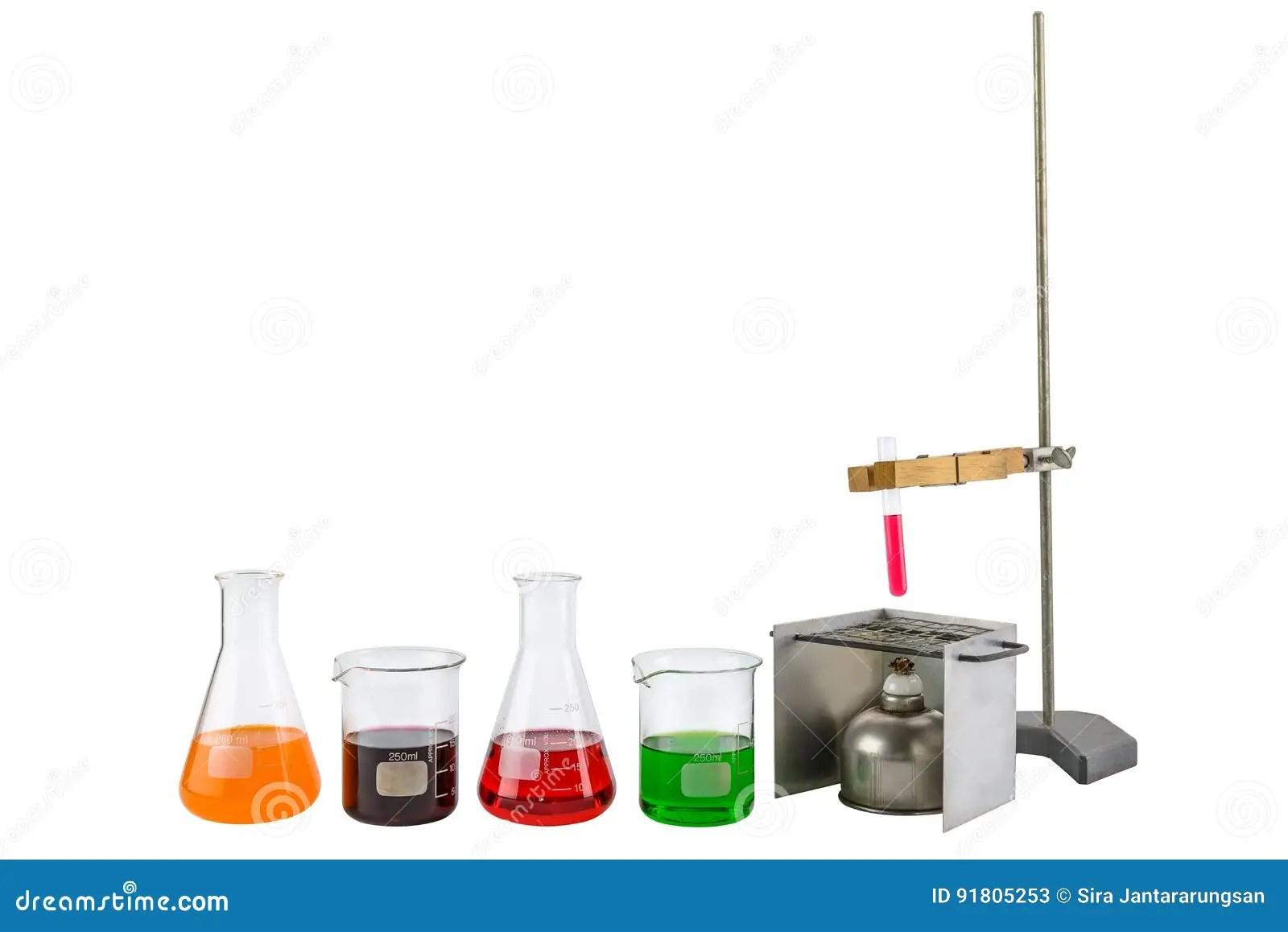 Laboratory Equipment Test Tube Holder And Alcohol Lamp Test Tub Stock Image