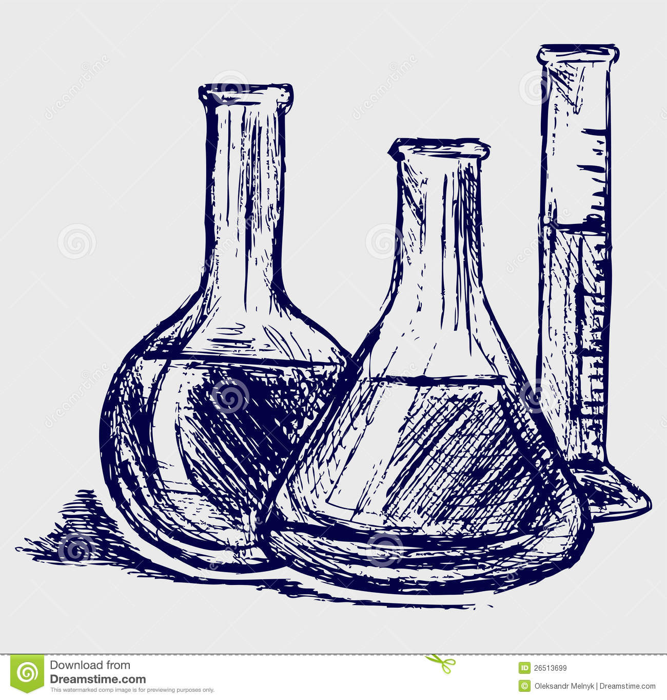 Laboratory Glassware Stock Vector Illustration Of Cartoon