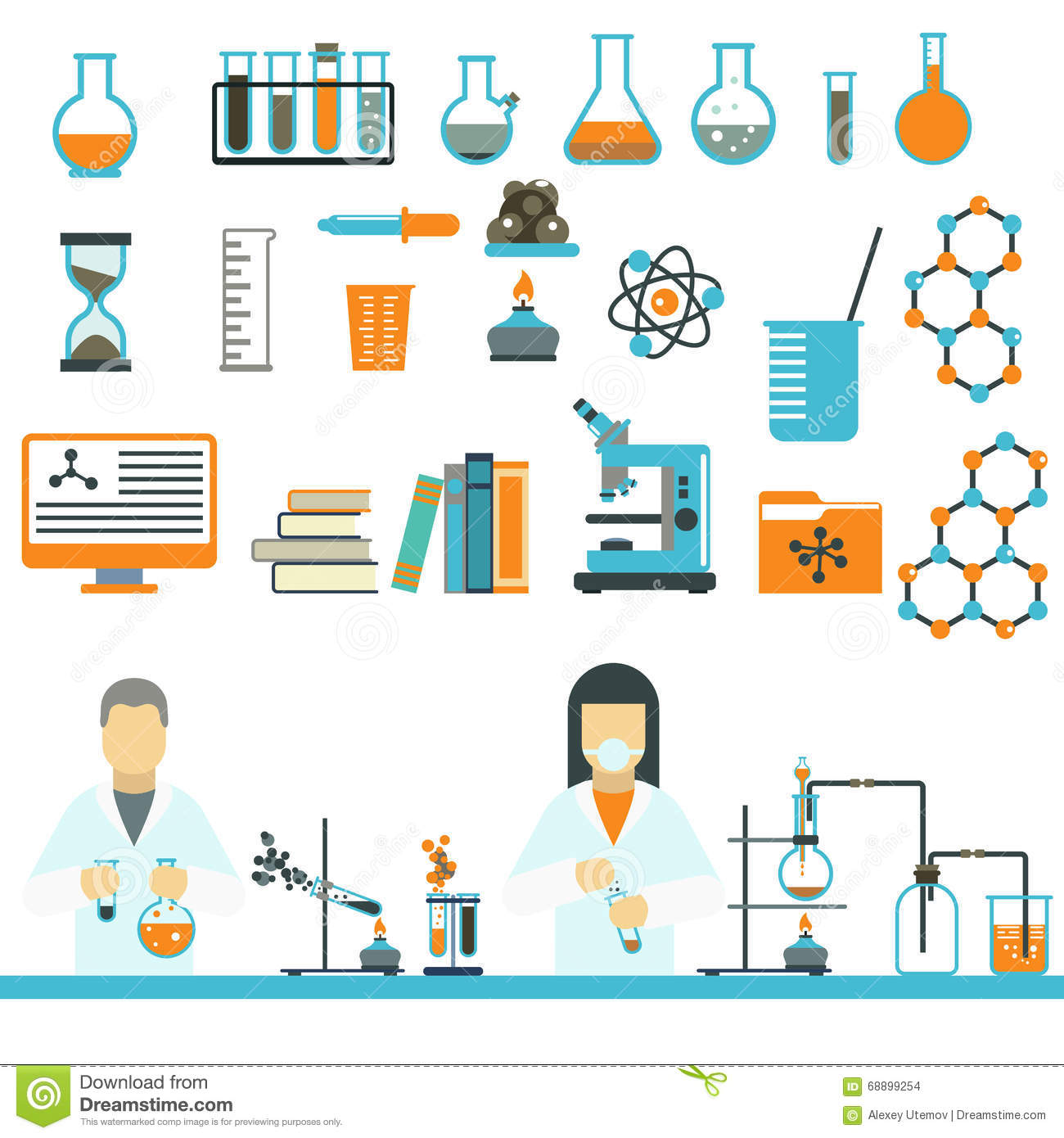 Lab Symbols Test Medical Laboratory Scientific Biology