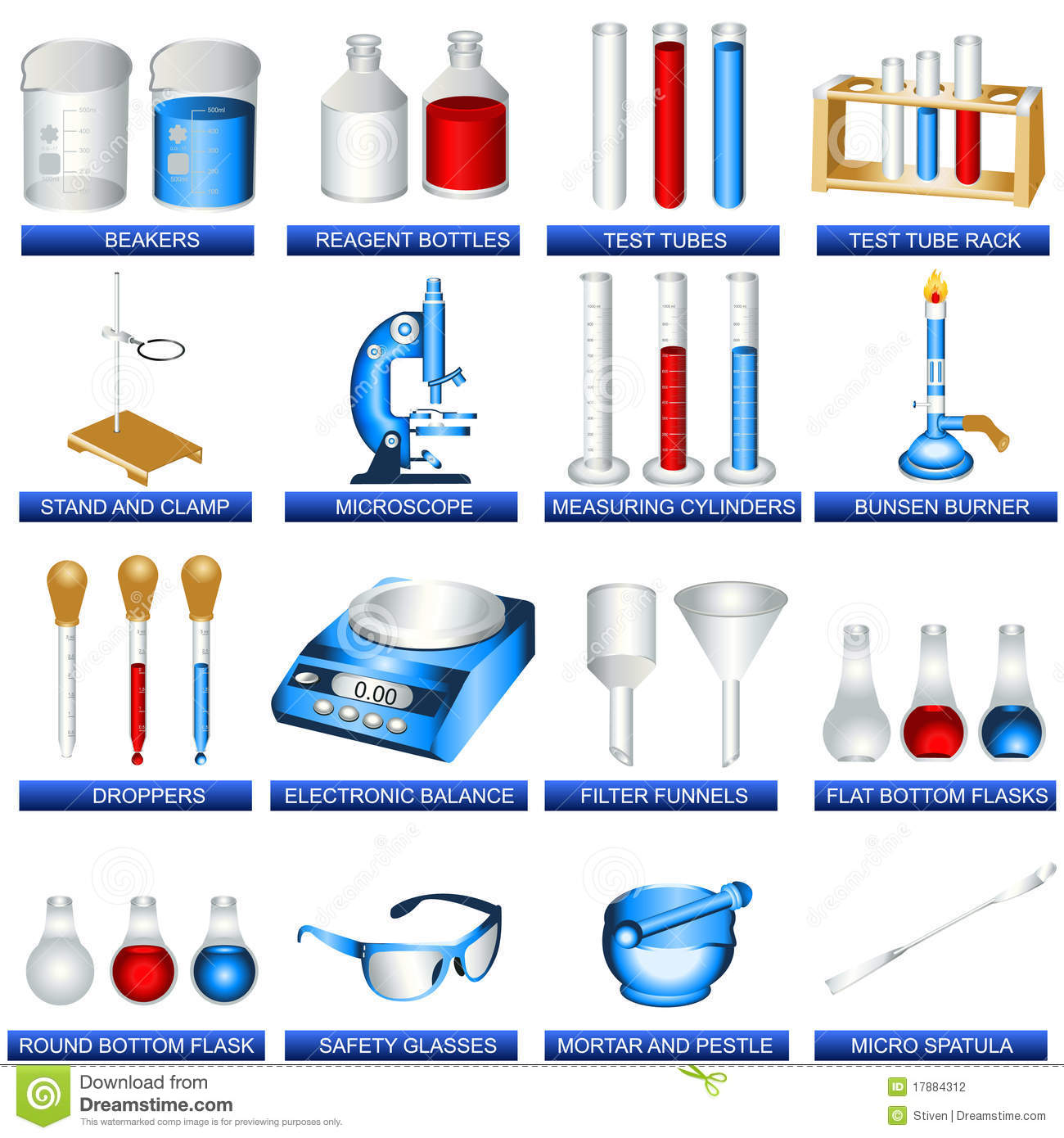 Laboratory Tools Stock Vector Illustration Of Experiment