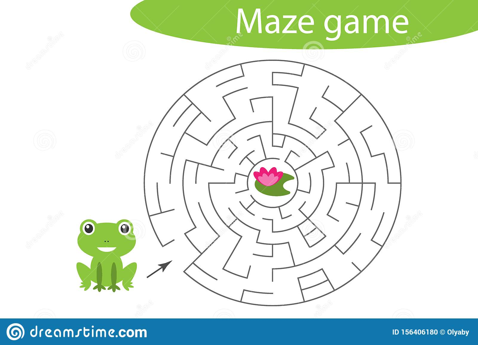 Labyrinth Game Help The Cute Frog To Find A Way Out Of