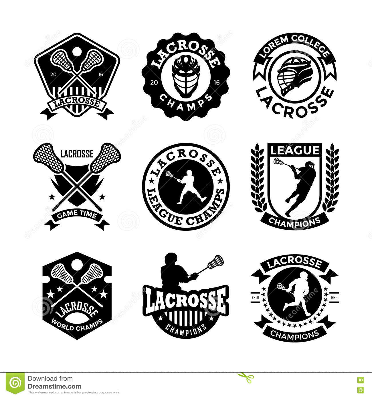 Lacrosse Vector Icons 22 Stock Illustration Image Of