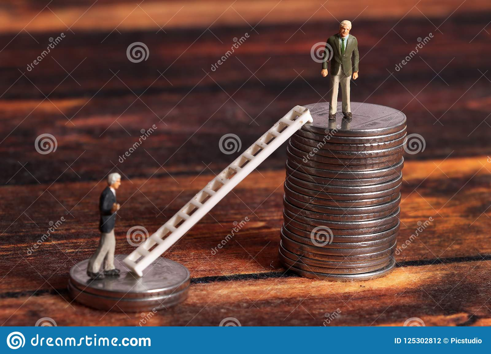 Ladder Of Success Stock Photo Image Of Wooden Money