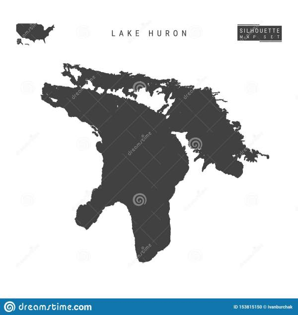 vector illustration great lakes silhouettes stock clip - HD 1600×1689