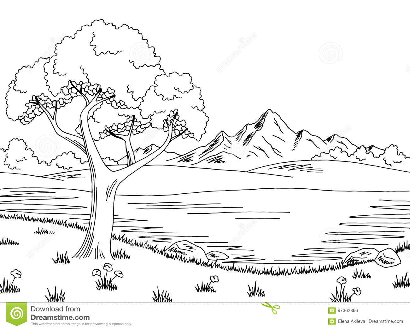 Clipart Lake