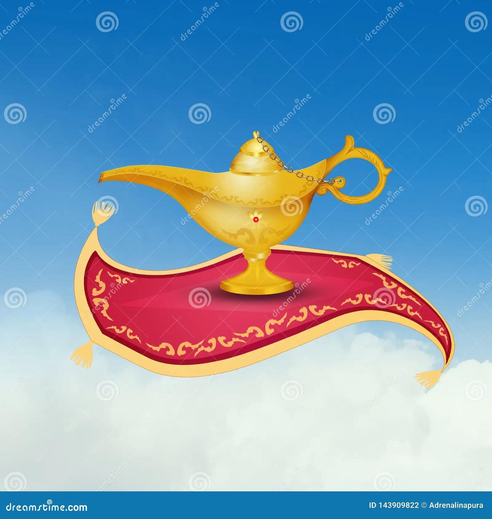 https fr dreamstime com lampe d aladdin tapis volant illustration image143909822