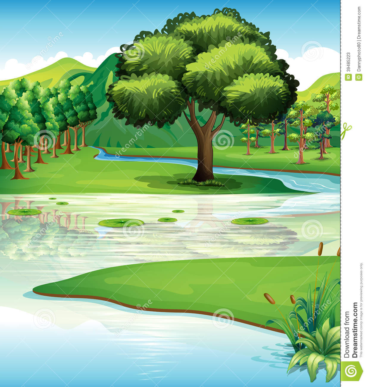 Land And Water Resources Stock Vector Illustration Of