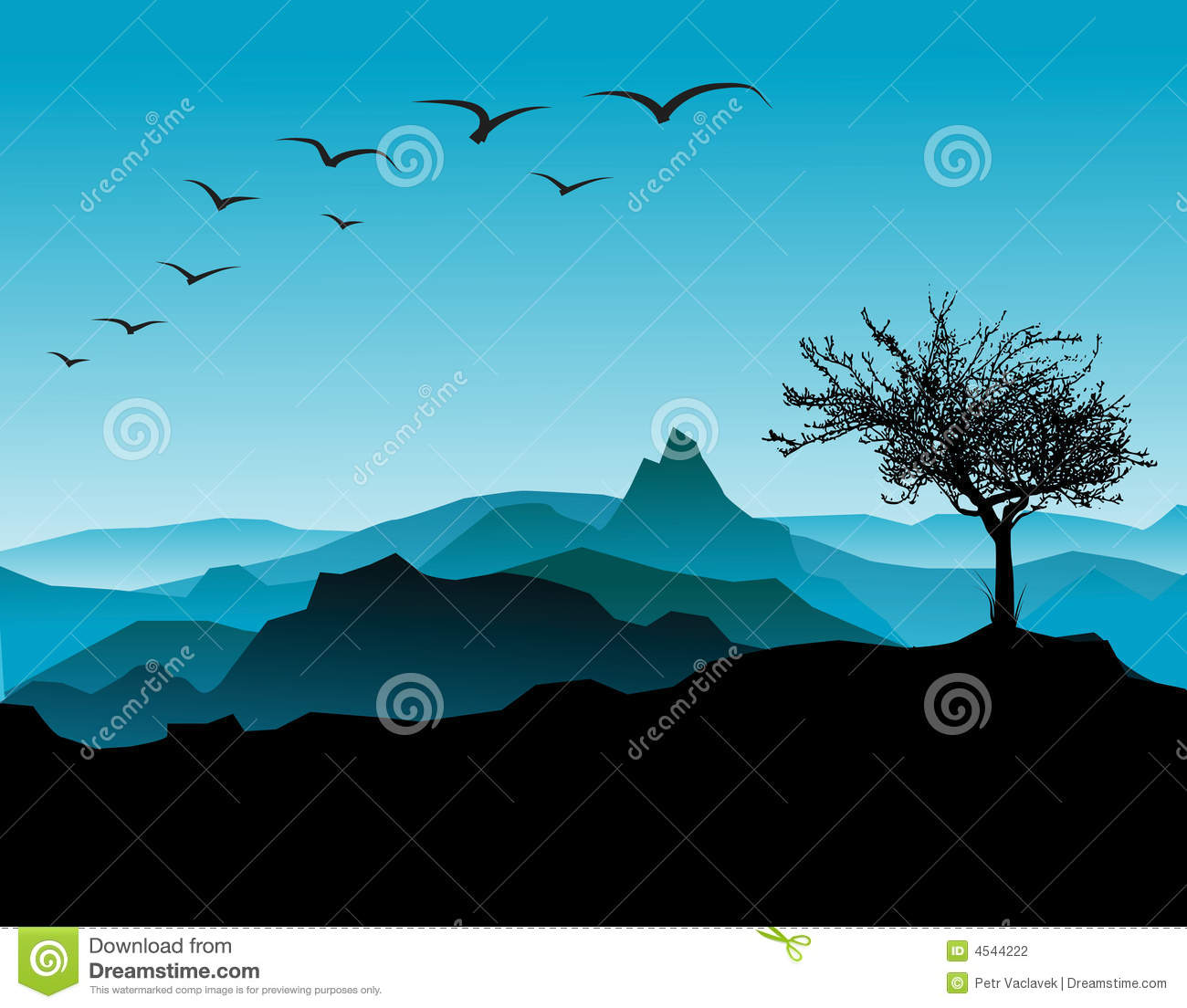 Landscape Silhouette Stock Photography Image 4544222