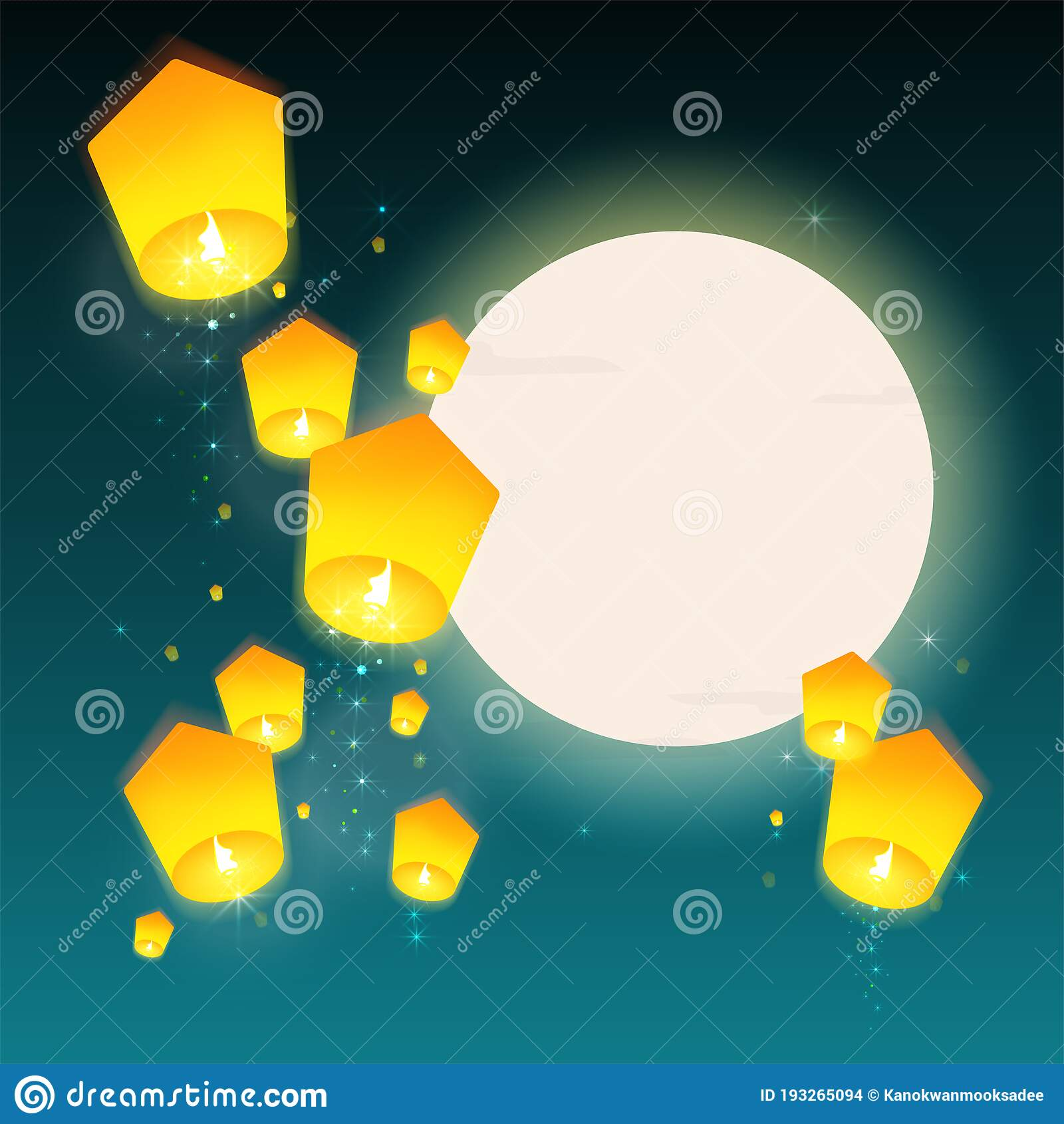 Mid Autumn Festival For Chinese New Year Vector