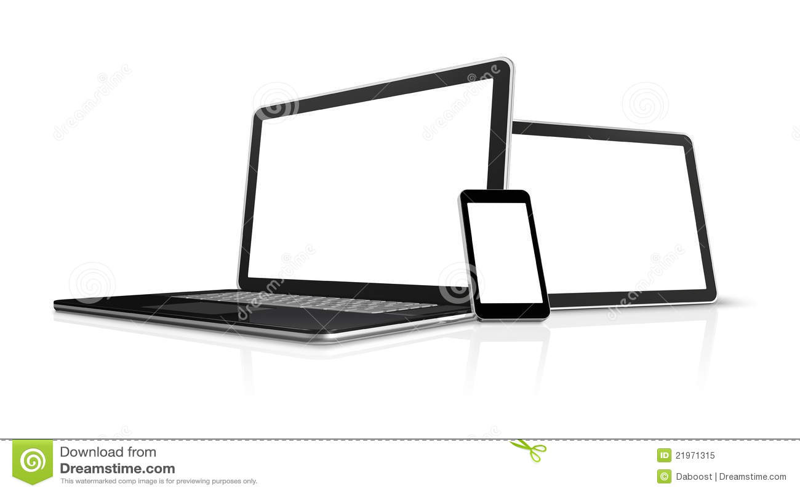 Laptop Mobile Phone Digital Tablet Pc Royalty Free Stock