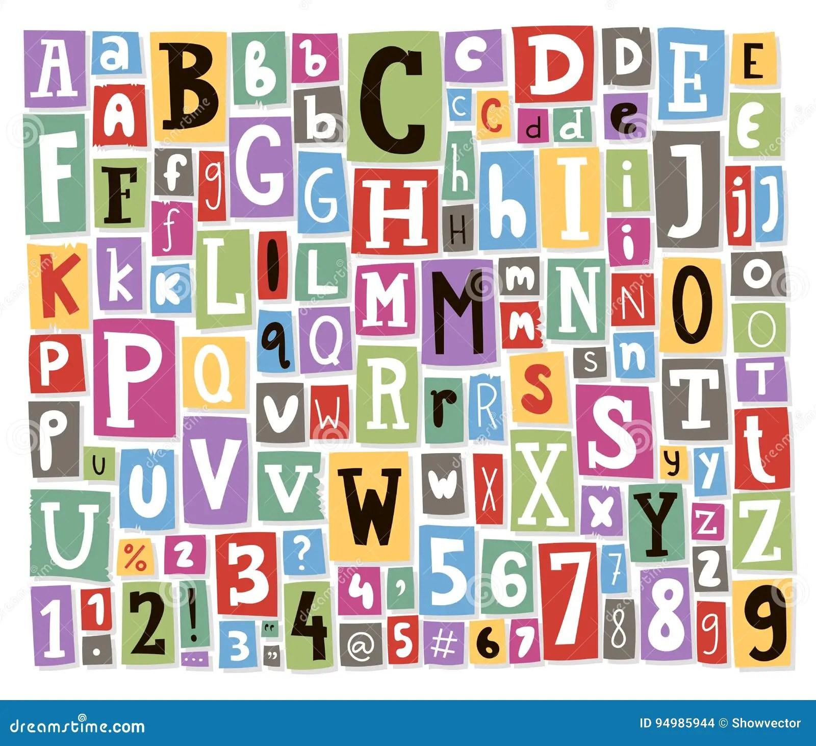 Las Letras Coloridas Del Alfabeto Del Vector Hechas Del