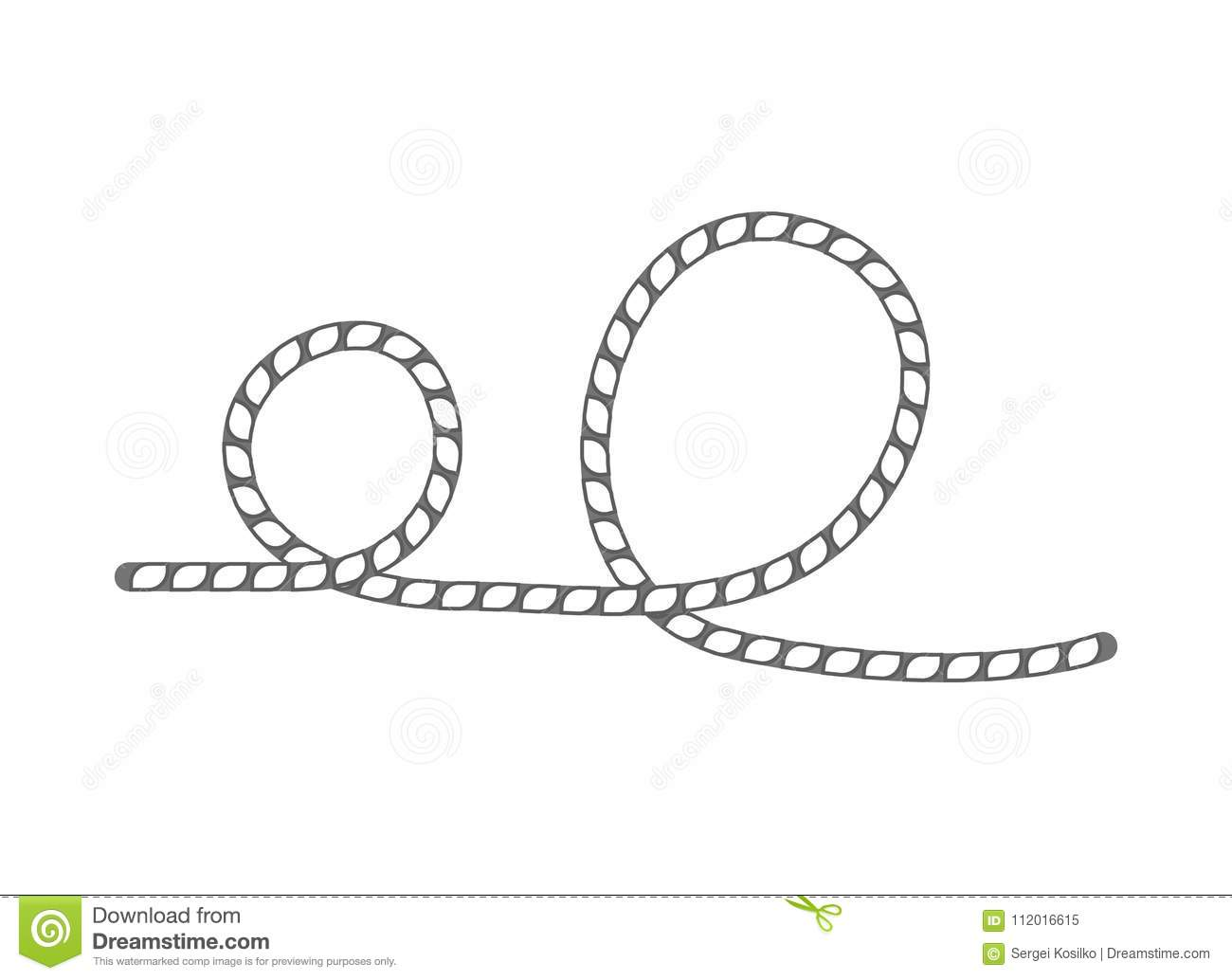 Lasso Rope Isolated Vector Icon Stock Vector