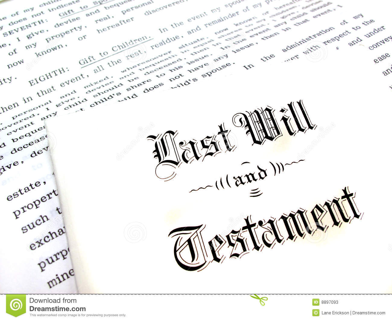 Last Will And Testament Stock Image Image Of Devise