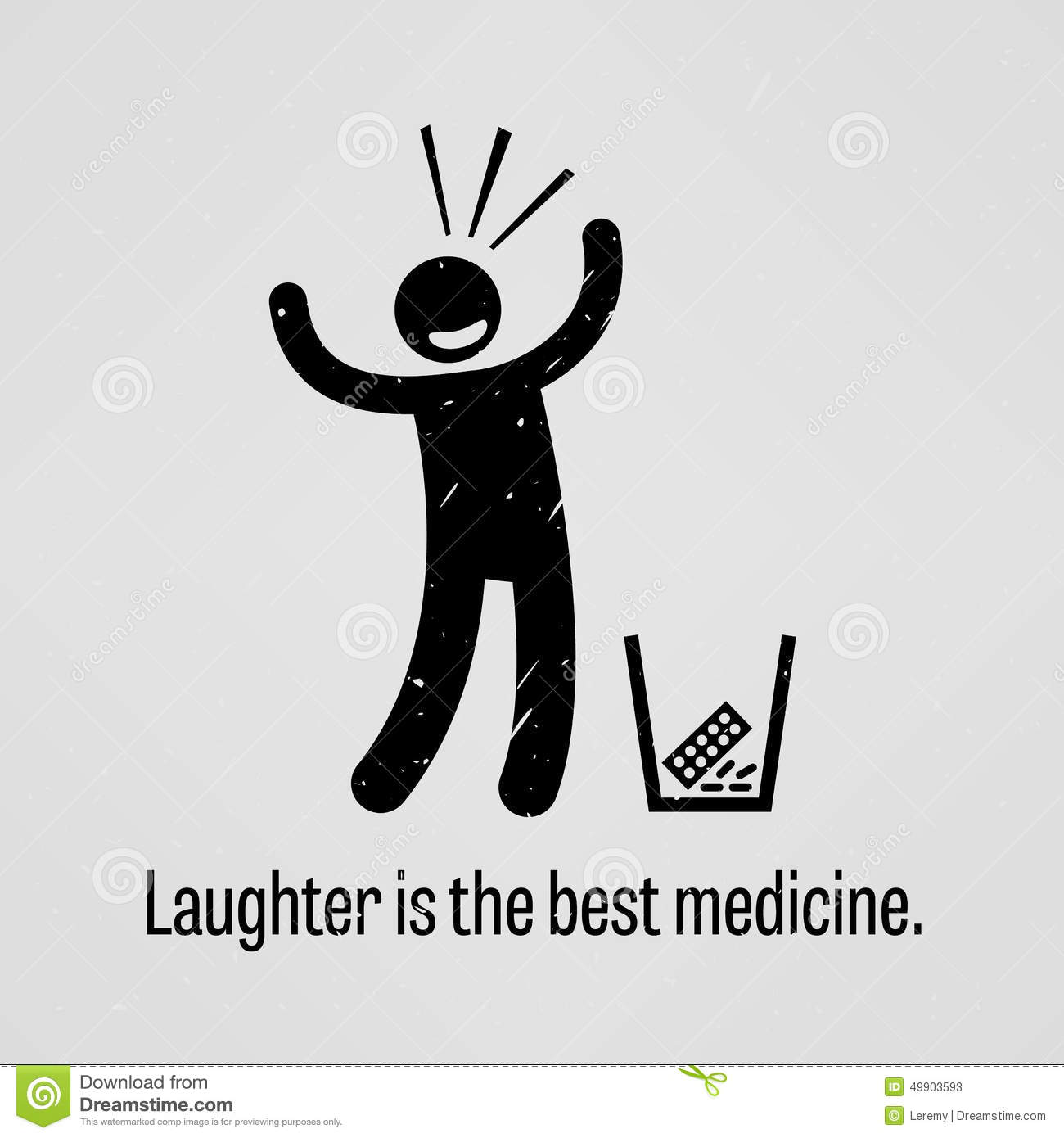 Laughter Is The Best Medicine Proverb Stock Vector